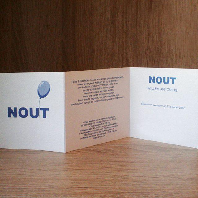 Geboortekaartje Nout